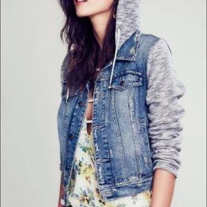 ✨SALE✨ Free People Denim Jean & Knit Jacket sz M ✨